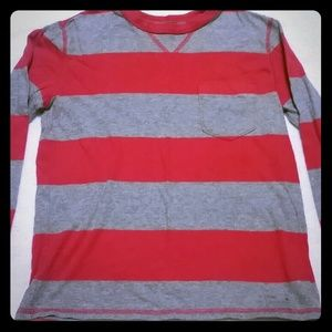 Gap kids red and grey long sleeve